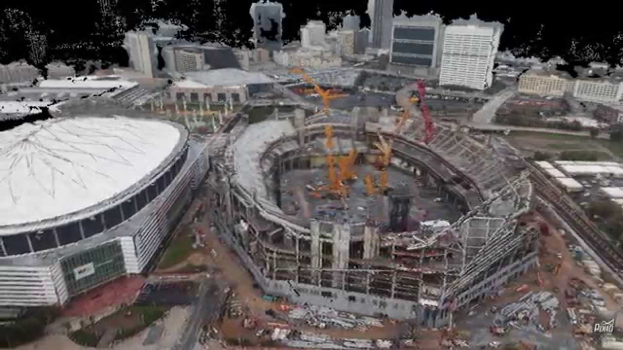 3d Map Georgia Dome And Mercedes Benz Stadium Pix4d