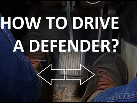 How do you drive a Defender?