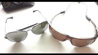 vuclip Maui Jim Island Time Polarized vs RayBan Aviator Sunglasses Review