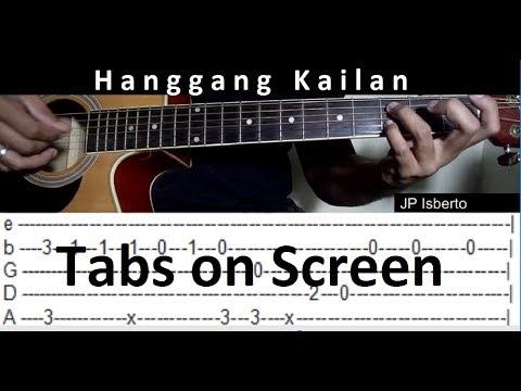 hanggang kailan orange lemon fingerstyle guitar cover tabs on screen youtube. Black Bedroom Furniture Sets. Home Design Ideas