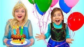 Princess Gets a BIRTHDAY SURPRISE!!   Fun Princesses Dress Cosplay Kids Costumes   Super Elsa