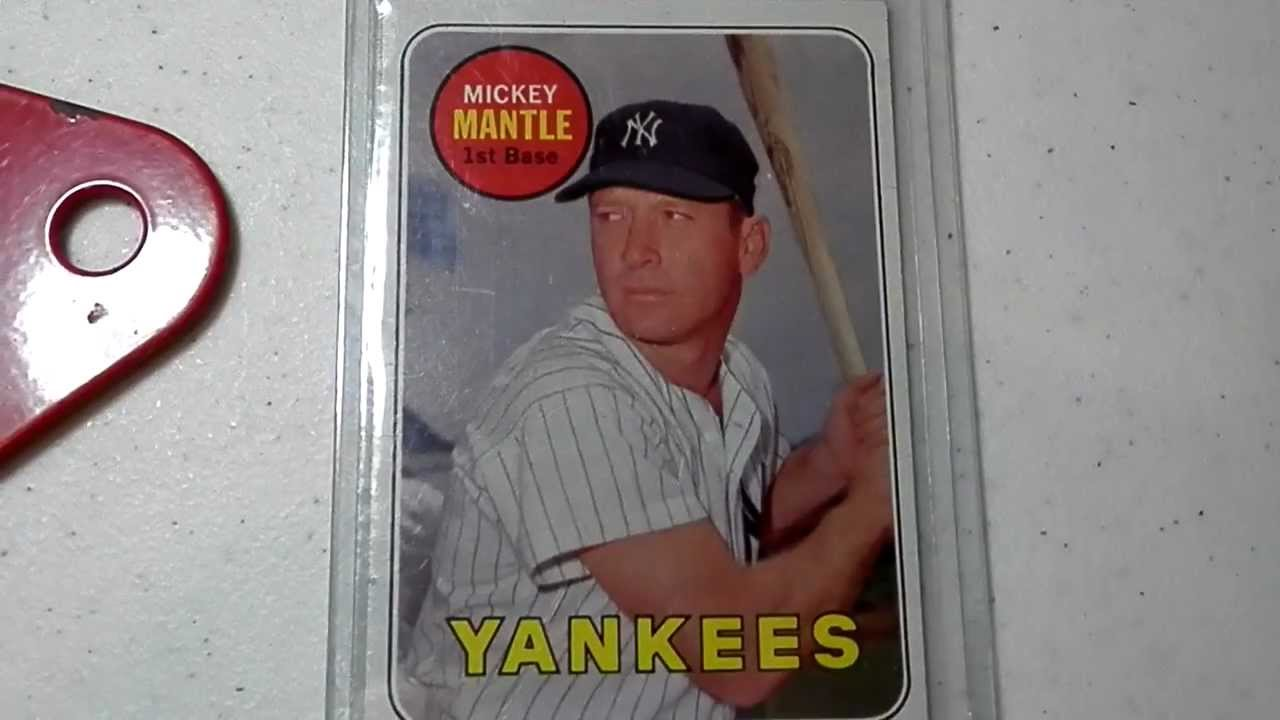 Mickey Mantle 1969 Topps 500 Card