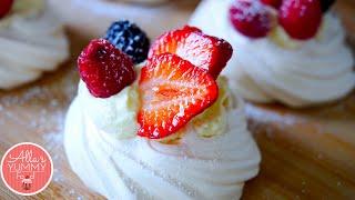 How To Make Meringue - Berry Meringue Nests - Фруктовое пирожное-безе