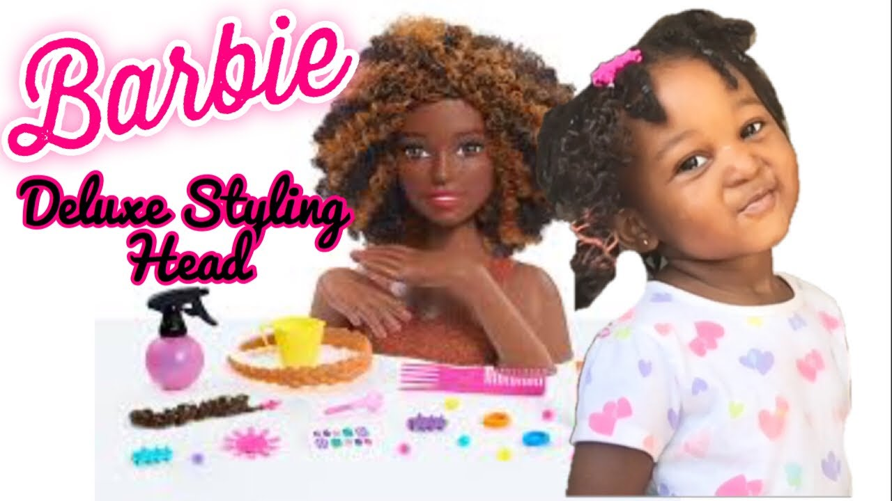 Awesome Barbie Rainbow Sparkle Deluxe Styling Head Afro Hair wallpapers to download for free greenvirals