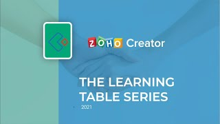 Integration of Zoho Creator with Zoho Sites   Learning Table Series
