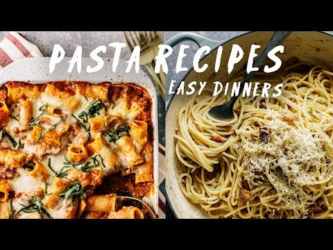 4 Easy & Satisfying Pasta Dinners | Pasta Recipes By HONEYSUCKLE