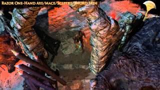 Path of Exile - Razor One-Hand Axe/Mace/Sceptre/Sword Skin