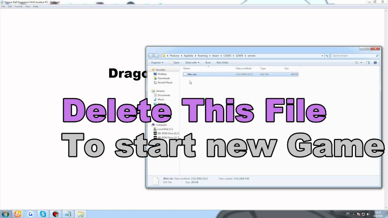 DragonBall Xenoverse Save Location PC 2