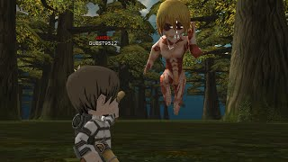 AHSS Vs Annie II abnormal with two-guns Attack on titan tribute game solo