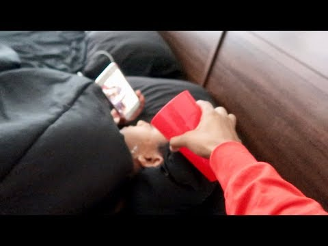 POURING WATER ON HER WHILE SHE SLEEP!!! (Prank)