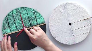 DIY Handmade wall clock | Wall decor handcraft | Cardboard craft