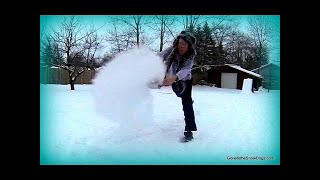 Boiling Water in Extreme Cold Turns to SNOW! SLOW MOTION