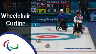 Wheelchair curling: Finland v Korea | Round Robin | PyeongC…