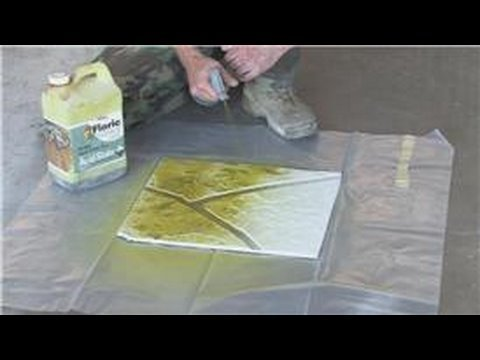 Decorative Concrete Techniques How To Stain