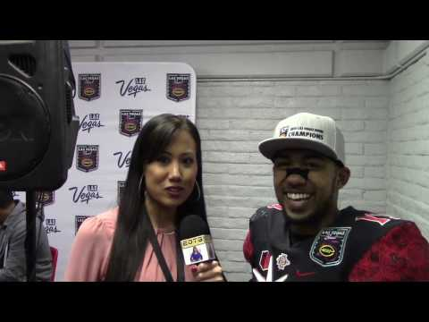 SDSU DONNEL PUMPHREY ON BREAKING RON DAYNE'S RECORD IN HOMETOWN LAS VEGAS BOWL AND FUTURE PLANS