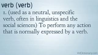 Verb - definition