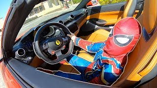 Timko becomes a superhero in kids cars story | Timko and Papa Ride on Ferrari
