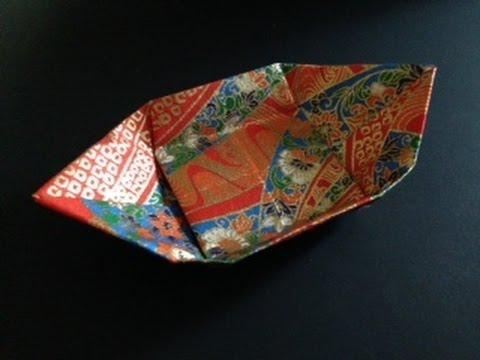 折り紙の:折り紙 皿-youtube.com