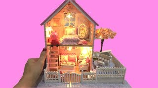DIY MINIATURE DOLLHOUSE ~Peppa Pig Dollhouse with bedroom, living room, garden