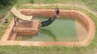Build Swimming Pool Underground Using Brick Part 2