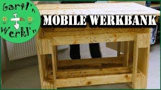 Mobile Werkbank Aus Paletten Selberbauen Einfach Stabil Kostengunstig Youtube