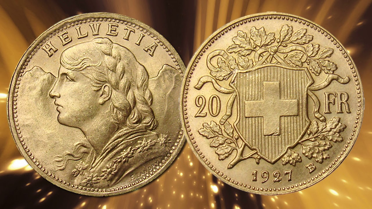 Swiss Franc Gold Coins You