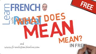 How to say to mean in French thumbnail