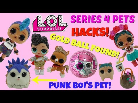 LOL Surprise Pets Series 4 Eye Spy Decoder Gold Ball Hacks Cheeky Hedgehog Coco Hammy Twins Found