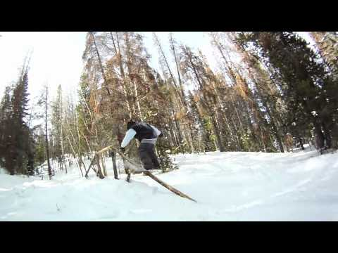 Snowboarding in Breckenridge Colorado with Powder Tools Crew