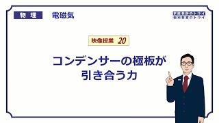【高校物理】 電磁気20 コンデンサーと極板の力 (14分)