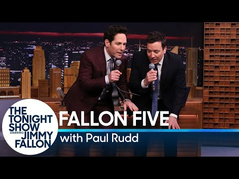Tonight  Fallon Five: Paul Rudd