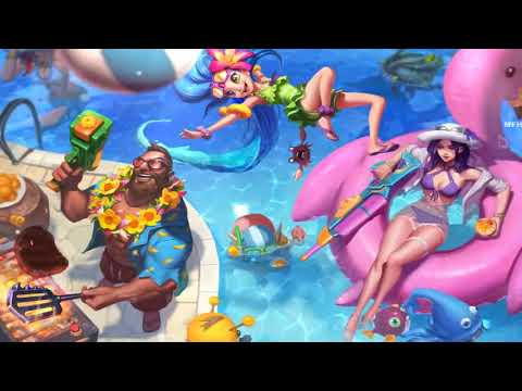 Pool Party 2018 Login Screen Animation Theme Intro Music Song【1 HOUR】