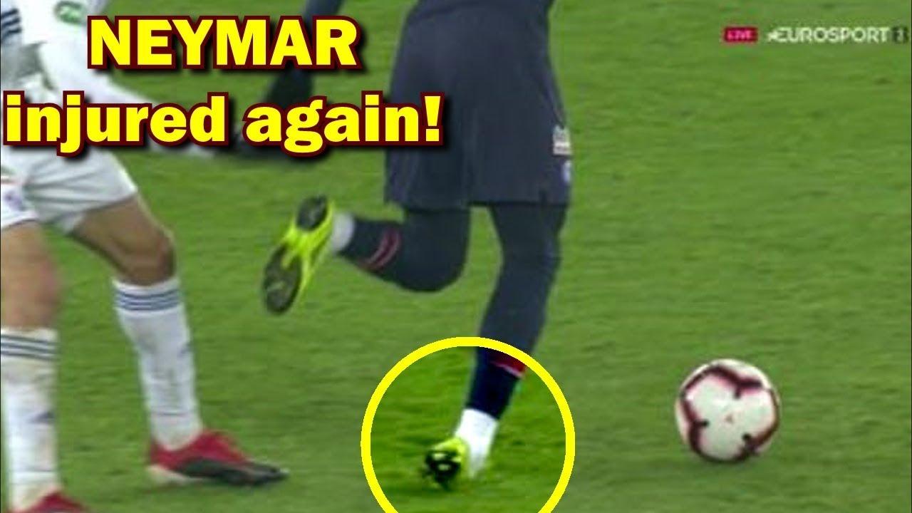 neymar latest injury psg vs strasbourg coupe de france