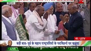 Watch: President Ram Nath Kovind meeting various dignitaries at Parliament