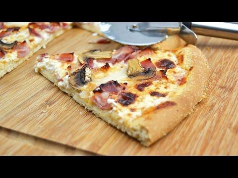 Pizza Carbonara Estilo Domino's Con Masa Casera | Recetas Fáciles