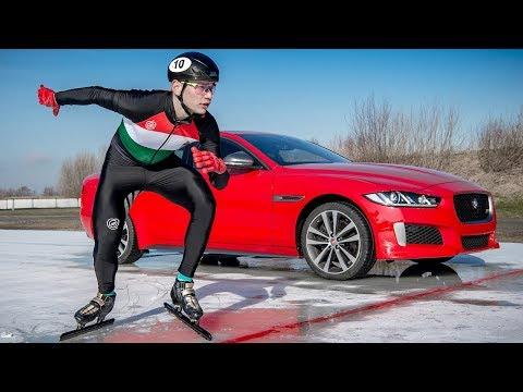 Jaguar XE 300 Sport | 3km Ice Track Challenge