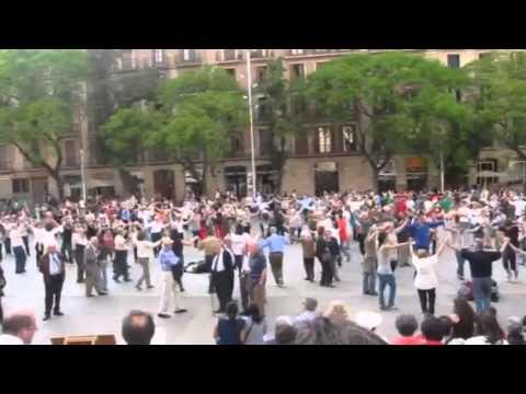 Catalan Folk Dancing, Cathedral Square, Barcelona