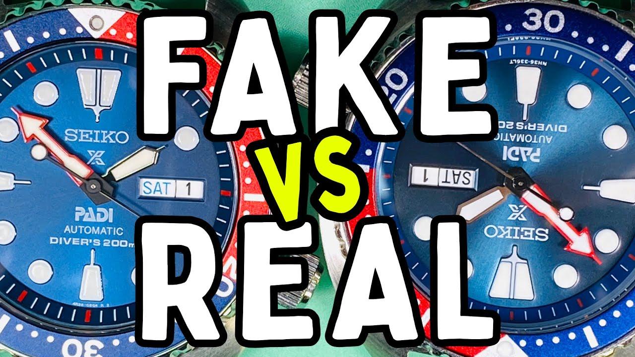 FAKE vs REAL - A full comparison - Seiko Prospex PADI Divers Pepsi