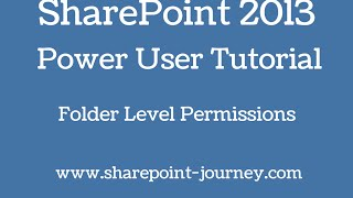 FREE Online SharePoint Courses @ http://www.sharepoint-journey.scho...