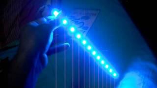 12 5050 smd led waterproof light strip blue 30cm length