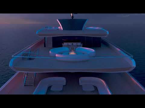 This superyacht concept features solar panels and a hybrid drivetrain