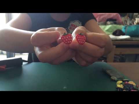 D.I.Y fruit earrings