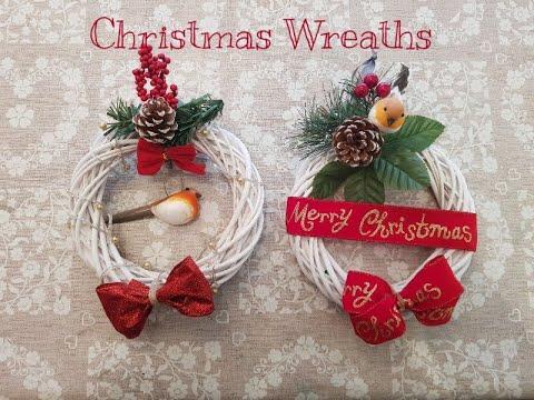 Christmas Craft series 2019 - Handmade Wreath using Poundland, Poundstretcher , bargain buys items