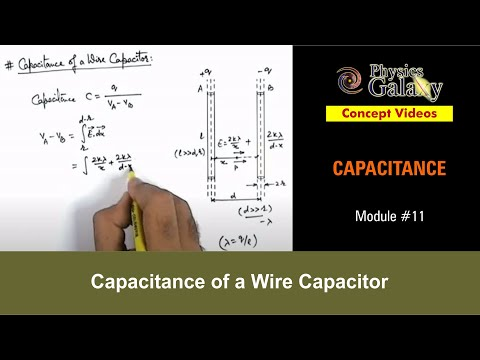 11 Physics Capacitance Capacitance of a Wire Capacitor by