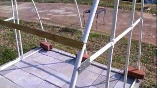 Easy Inexpensive PVC Pipe Greenhouse HydroSock Passive Wick Hydroponics Video 1