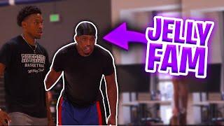 JELLY FAM GOES AT PROS! 😈 Isaiah Washington Workout | Jordan Lawley Basketball