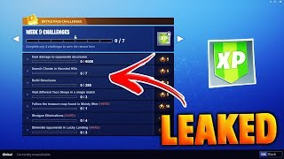 FORTNITE BATTLE PASS WEEK 9 CHALLENGES *LEAKED* (FORTNITE WEEK 9 CHALLENGES)