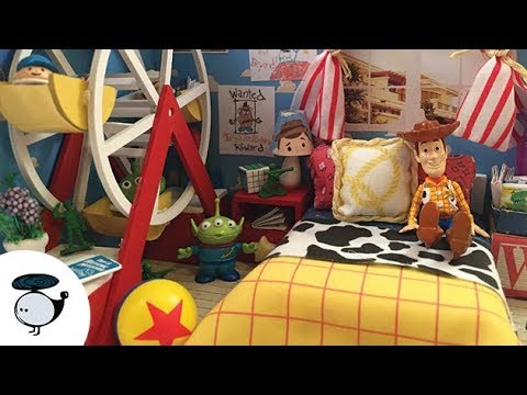 DIY Toy Story Dollhouse Miniature with Ferris Wheel and Working Lights!