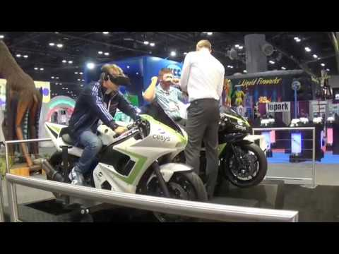 Motorbike VR Professional Simulator (Cesys) @ IAAPA 2016