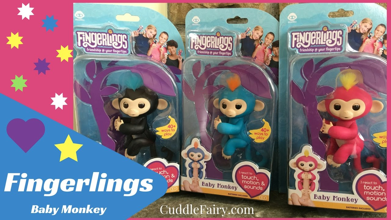 Fingerlings Baby Monkey Toys Unboxing Review Youtube